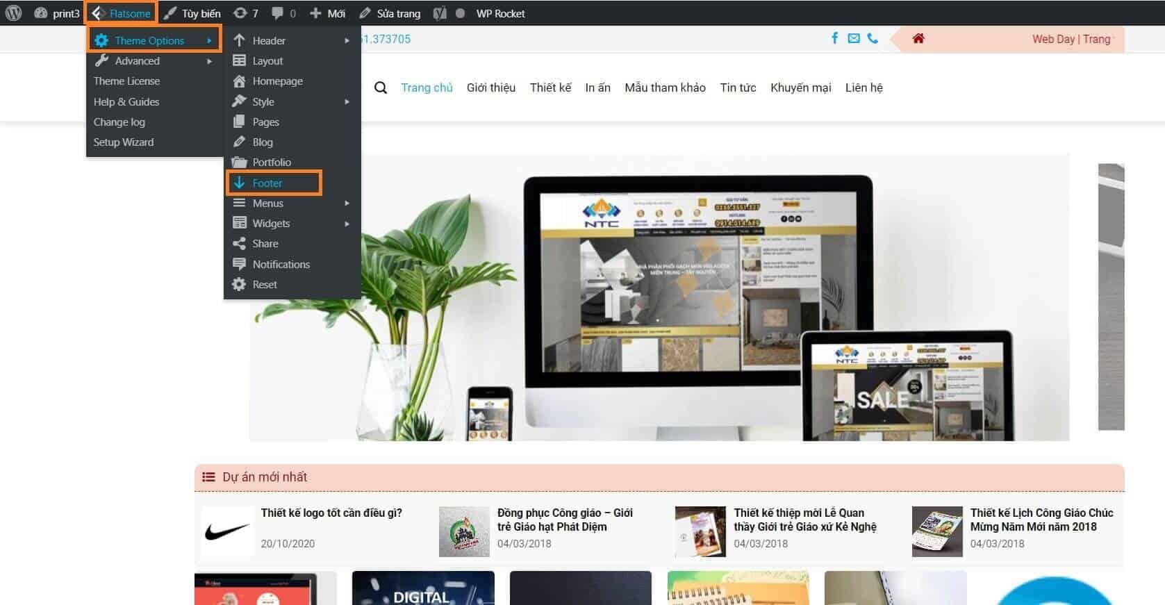 Chỉnh sửa footer wordpress để thay đổi nội dung