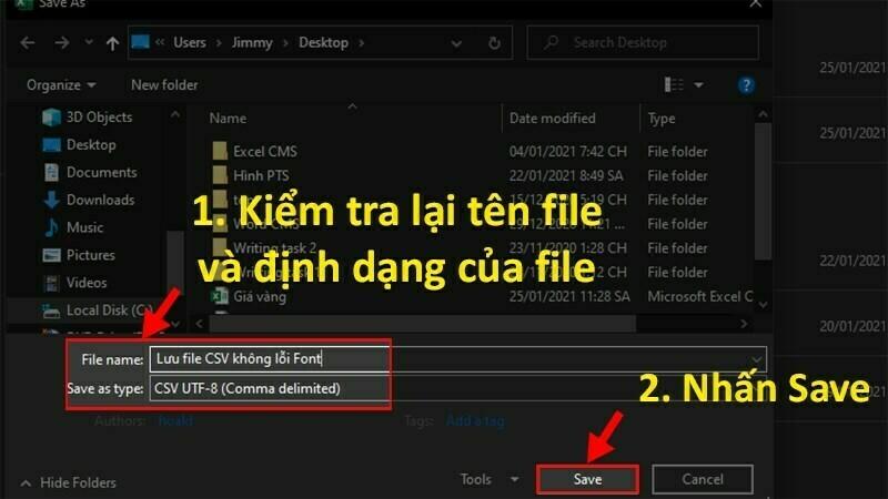 Cách sửa file CSV bị lỗi font