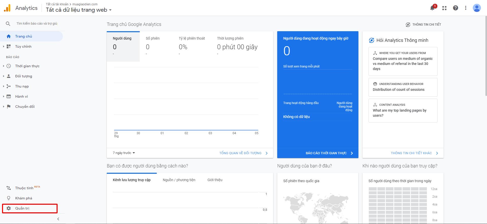 cài google analytics cho website