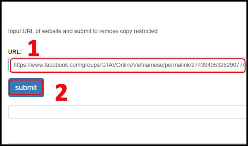 Lấy nội dung khi không copy được trên web