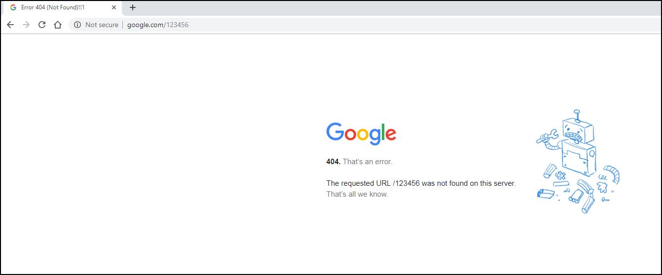 Lỗi 404 là gì?